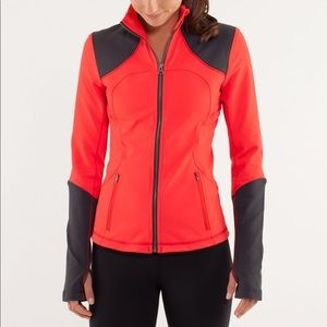 Lululemon red and gray forme jacket size 4